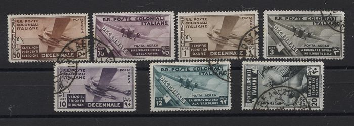 Italy - Colonies (general issues) 1933/1934 - Colonies airmail general issues 1933 and Somalia 1934 - Sassone A22/28 - A7/16