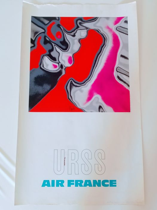 Raymond Pages - URSS Air France - 1971