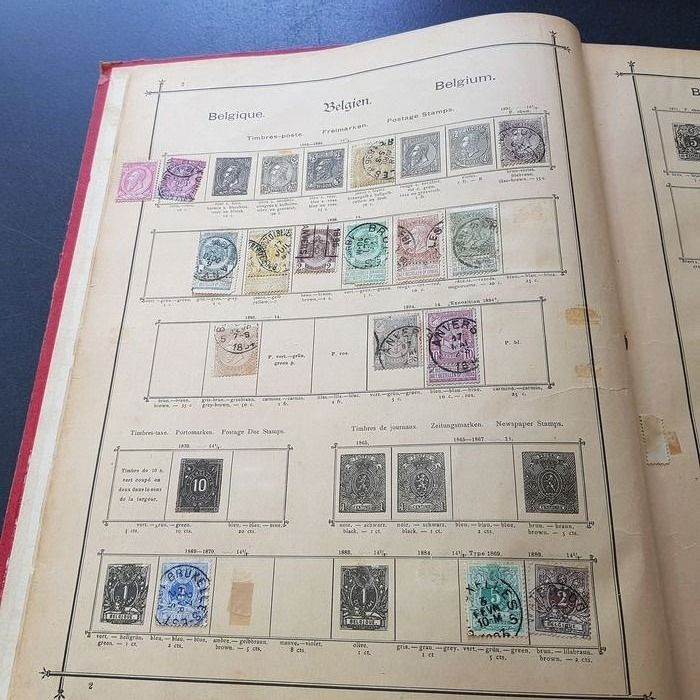 World 1850/1950 - In album on blank pages and antique