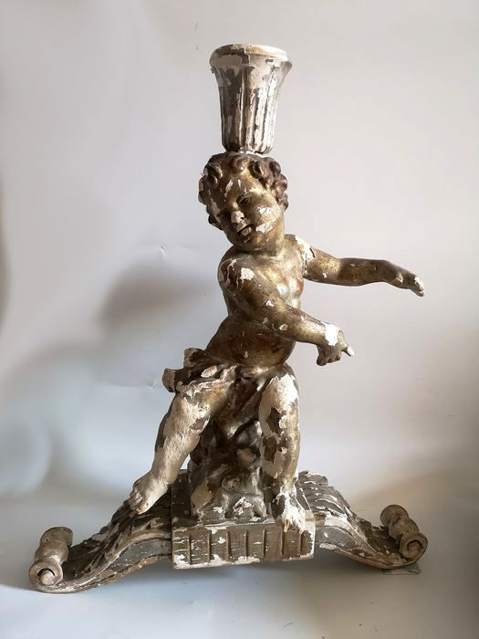 Candlestick, Church candlestick with a putto figure