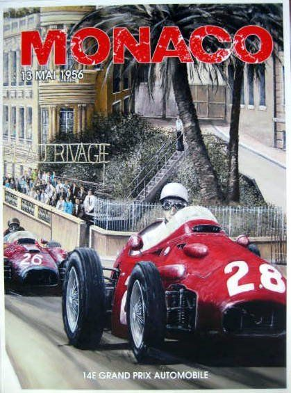 Decorative object - Monaco - 14e Grand Prix Automobile - 1956