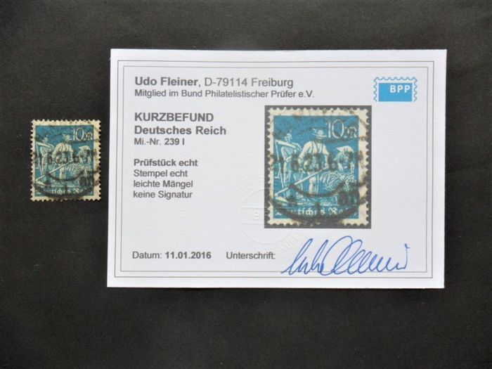 German Empire 1922/1923 - Four series on a stock card
