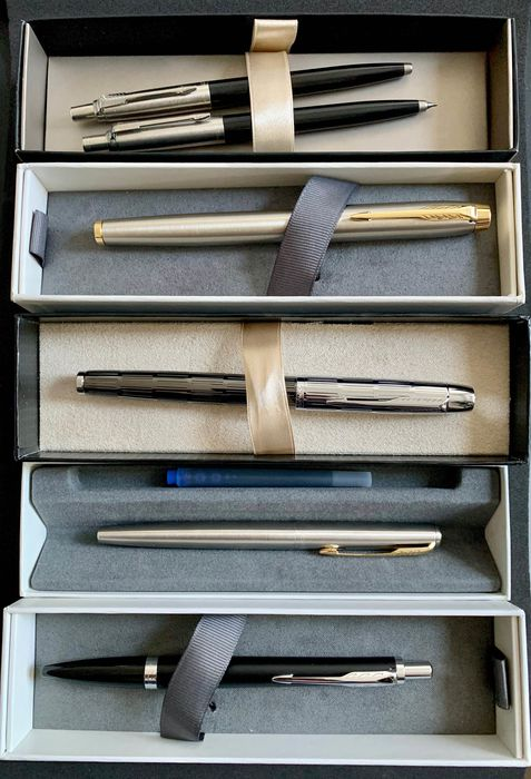 Parker - Ballpoint pen, Fountain pen, Pencil - Group of 6