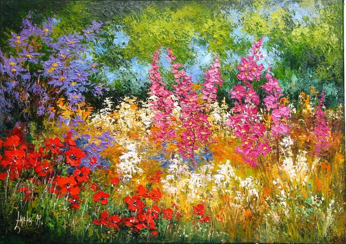 Małgorzata Łącka -   Meadow flourishing near the forest