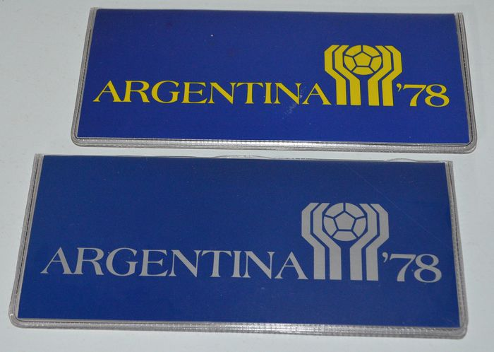 "Argentinië - 20 Pesos t/m 3000 Pesos ""World cup soccer games 1978"" (2 sets)"