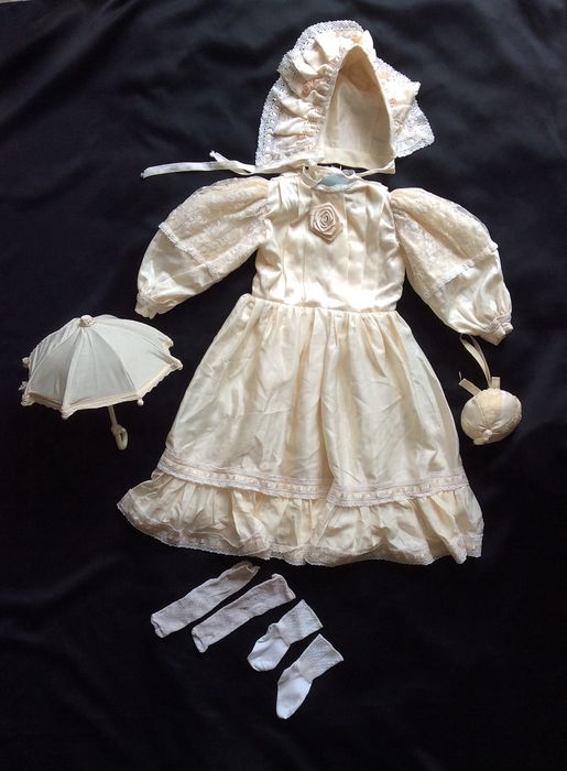 christening dress - satin and lace England