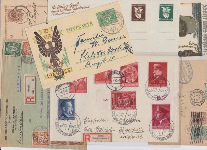 German Empire - German Reich - extensive lot of documents including postal stationery / propaganda, etc.