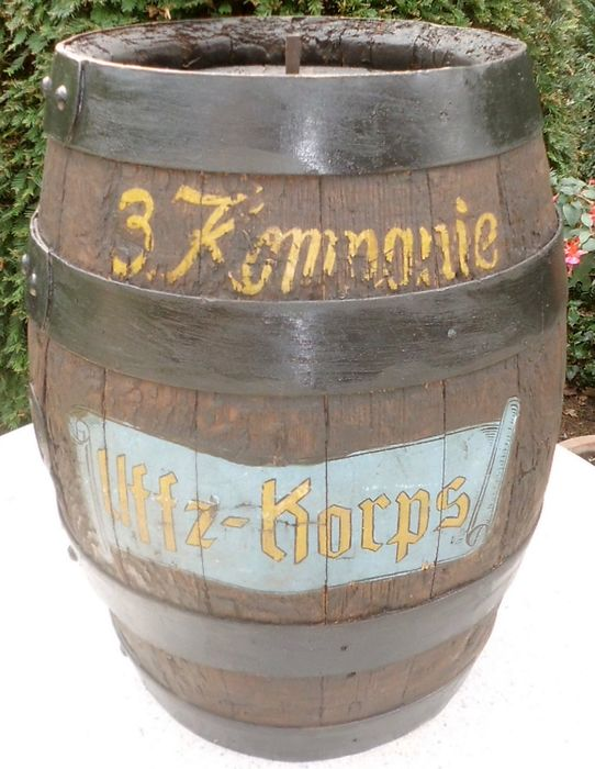 Oak beer keg, restored, to be rebuilt as a table - Glass, Wood- Oak