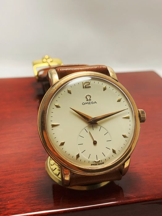 Omega - 267, 38 mm Jumbo Size, 80 Micron Gold Plated - 2544-1 - Men - 1950-1959