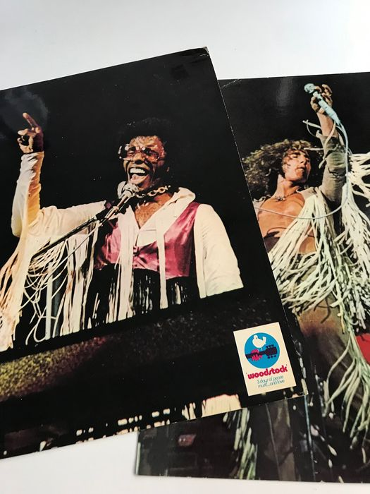 Sly & The Family Stone, The Who - Différents artistes - Lot of 2 original 1970 movie promotion display cards   - Différents titres - 2xLP Album (double album), Articles de souvenirs officiels - 1970
