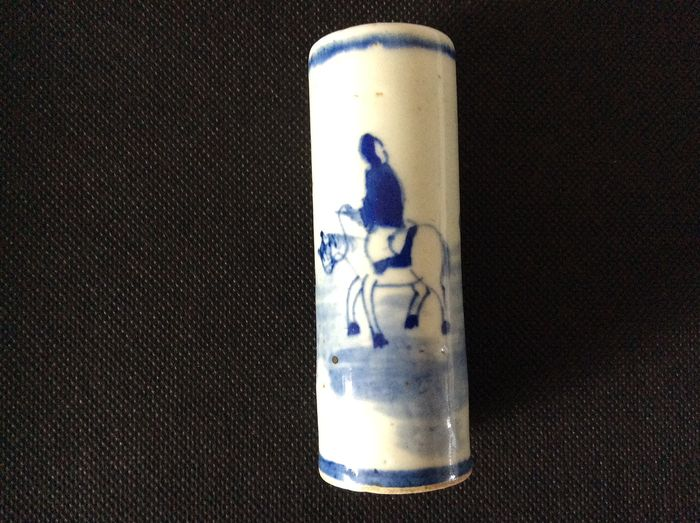 Brushpot 'bitong' - Porcelain - Kangxi period  blue and white porcelain - China - 19th century