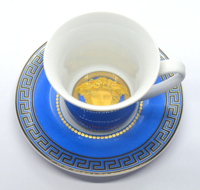 Versace - Rosenthal - Cup and saucer - Porcelain