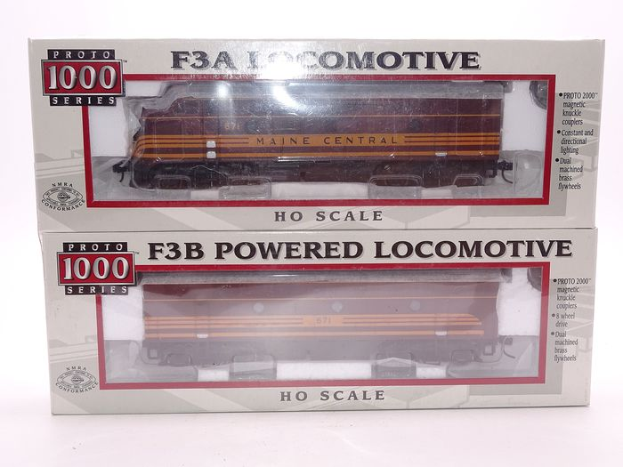 Life-Like Proto 1000 H0 - 30696 - Locomotive diesel - Paire de moteurs diesel EMD F3 A / B - Maine Central