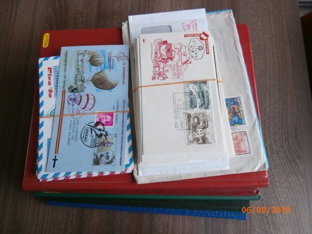 Austria - Albums with many pairs + Balloon mail and postal items