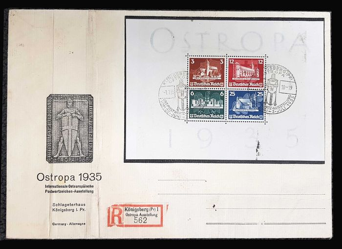 German Empire 1935 - OSTROPA block 3 on fragment - Michel Block 3