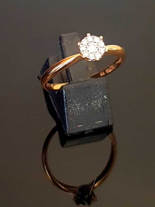 18 kt. Pink gold - Ring - Diamonds