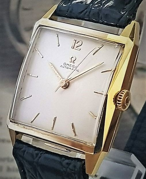 Omega - Pyramid Automatic solid 14k from 1958 - Ref 3985 - Herre - 1950-1959
