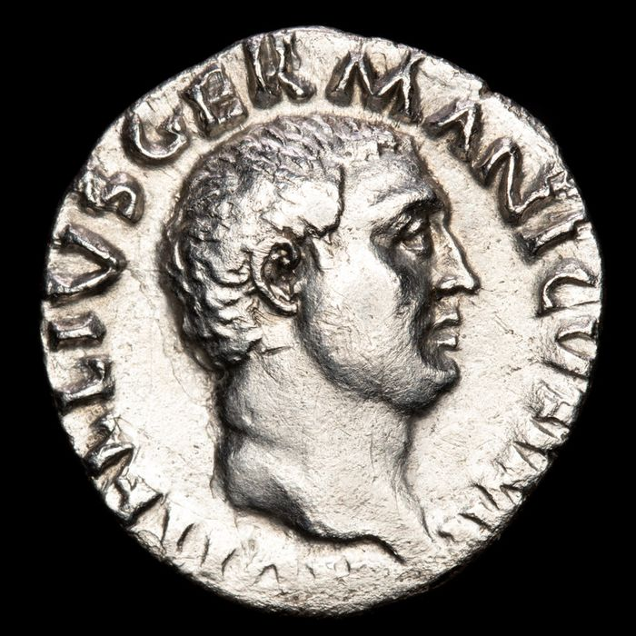 Roman Empire - Denarius - Vitellius (69 A.D.), Rome mint, 69 A.D. CONCORDIA PR. Concordia seated on throne - Silver