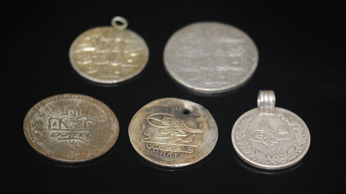 Ancient Ottoman Empire Coins - Metal - Turkey - Early 20th century