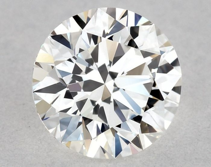 Diamond - 0.50 ct - Brilliant, Round - F - VVS2, * 3EX * - Low Reserve Price + Free FedEx Shipping