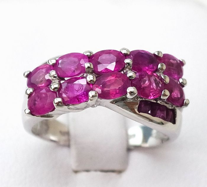 14 kt. White gold - Ring - 2.40 ct Ruby