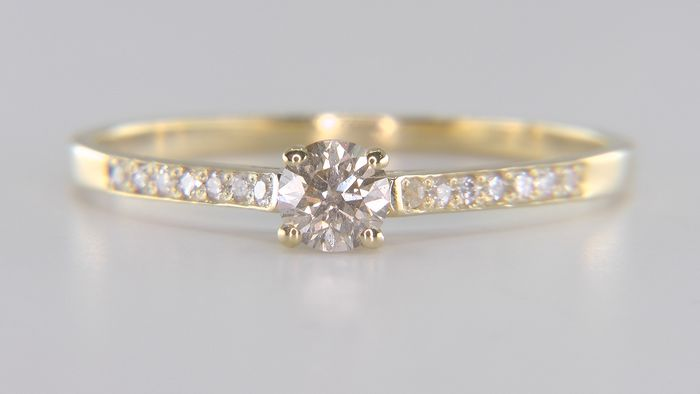 No Reserve Price - 14 carats Or jaune - Bague - 0.47 ct Diamant - Diamants