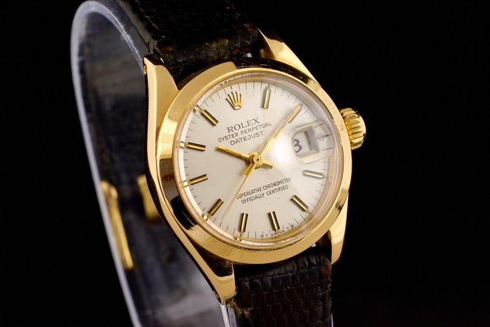 Rolex - Lady Oyster Perpetual Date Just 18K Gold  -  6916 - Női - 1970-1979