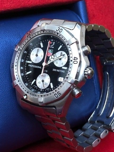 "TAG Heuer - Professional 200 m Chronograph ""NO RESERVE PRICE"" - CK1110-0 - Herren - 1990-1999"