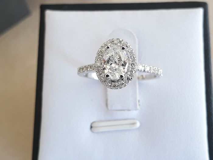 14 karat Hvitt gull - Ring - 1.34 ct Diamant - Diamant