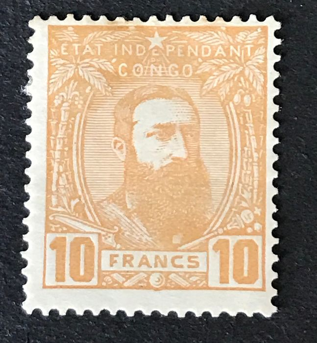Belgian Congo 1887 - Independent State of Congo 1887 - Leopold II - 5 Francs orange ochre - OBP / COB 13