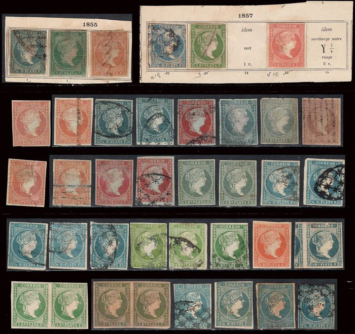 Colonies espagnoles - Cuba / Antilles - Lot + 90 stamps from former Spanish Colonies