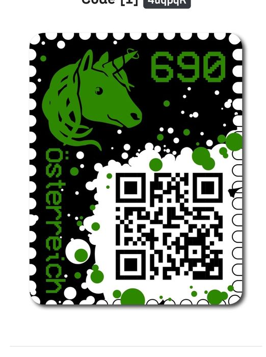 Oostenrijk 2019 - 2 x Crypto stamps in green