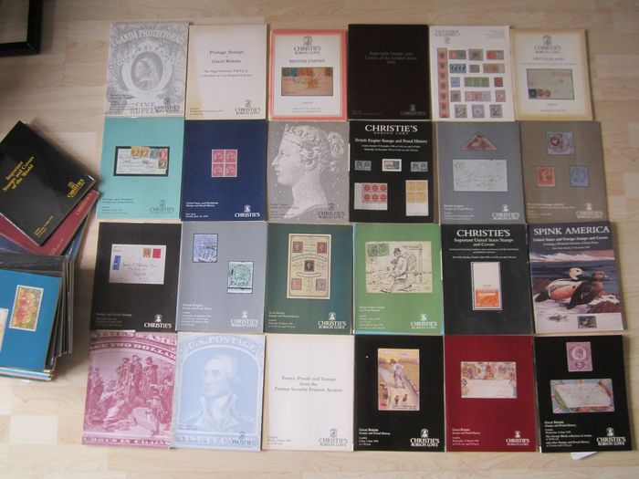 Europe - Forty mainly Christies stamp auction catalogues