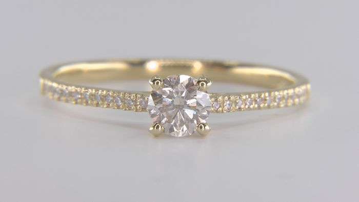 No Reserve Price! - 14 karat Gull - Ring - 0.75 ct Diamant - Diamant