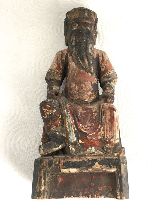 Statue (1) - Wood - CHO-SUN - China - Qing Dynasty (1644-1911)