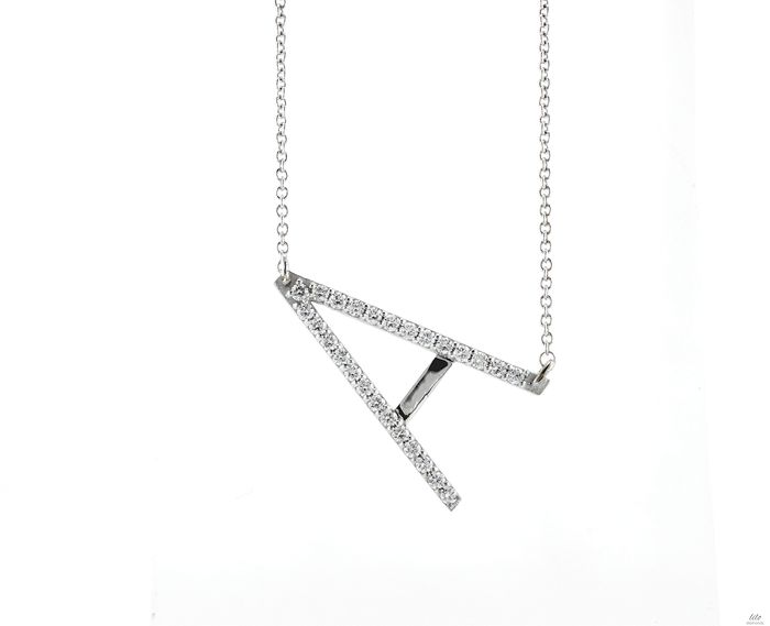 Lilo Diamonds - 14 carats Or blanc - Collier et pendentif - Diamants