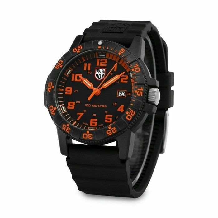 "Luminox - Sea Turtle Giant White Collection Orange - NUOVO - 0329 - ""NO RESERVE PRICE"" - Homme - 2019"