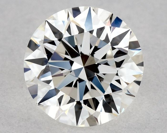 1 pcs Diamant - 0.50 ct - Brillant, Rond - F - VVS2, ** 3EX - Low Reserve Price + Free Shipping **