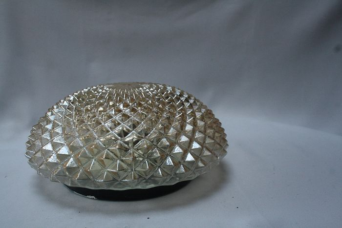 pearly glass cut ceiling lamp - Glas