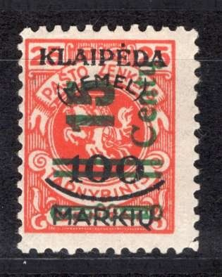 Memel 1920/1939 - Collection with specialties - Michel 231 III