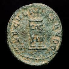Empire romain - Antoninianus - Philip I the Arab (244-249 A.D.) Rome - SAECVLARES AVGG, Cippus inscribed COS / III. - Bronze