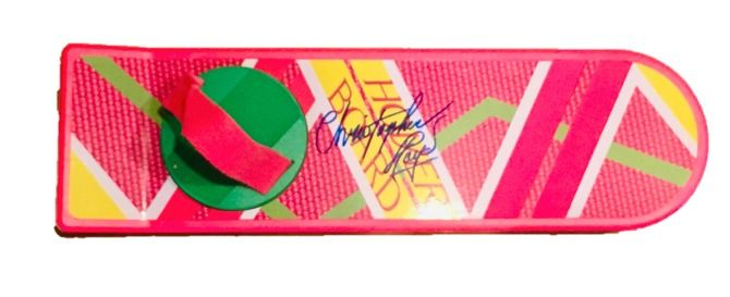 Back to the Future II ( Christopher Lloyd ) - Full-Size Hover Board - with Certificate Authenticity BECKETT