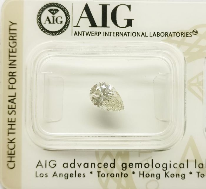 1 pcs Diamante - 0.75 ct - Pera - G - VS2