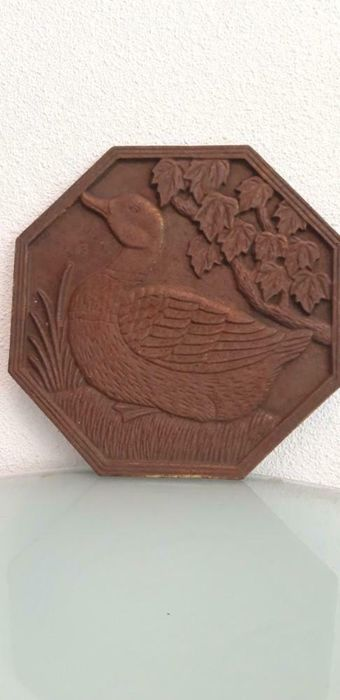 Ornate Plaque of a Duck (1) - Iron (cast/wrought)