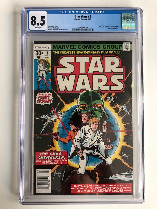 """Star Wars #1 - Part 1 Of """"Star Wars: A New Hope"""" Movie Adaption - CGC Graded 8.5 - Very High Grade!! - Softcover - First edition - (1977)"""