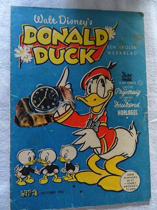 Donald Duck - Donald Duck weekblad jaargang 1952 nummer 1 - Stapled - First edition - (1952)