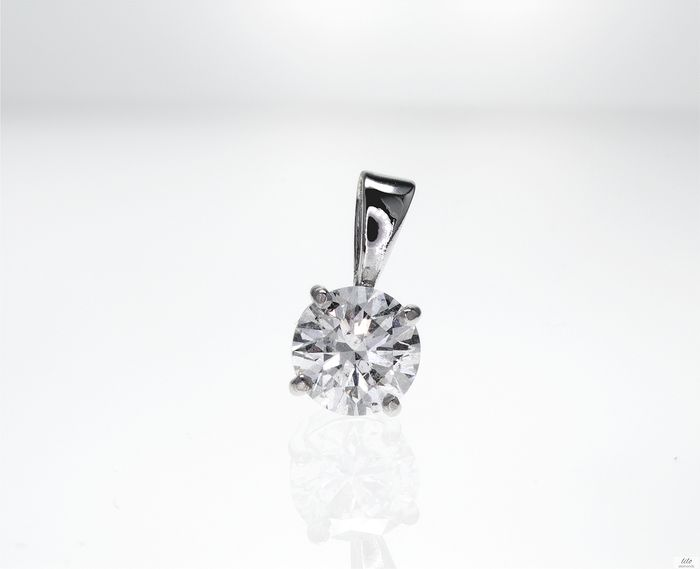 14 kt. White gold - Pendant 1.00 ct Diamond