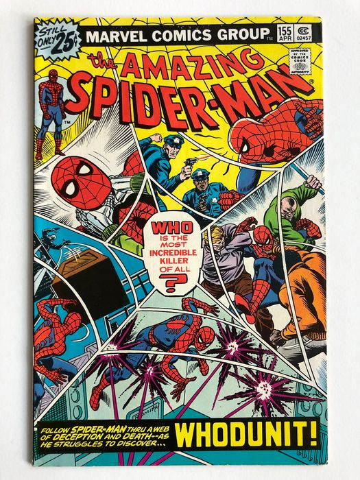 The Amazing Spider-Man #155 - Whodunit!! - High Grade!!! - Softcover - Erstausgabe - (1976)