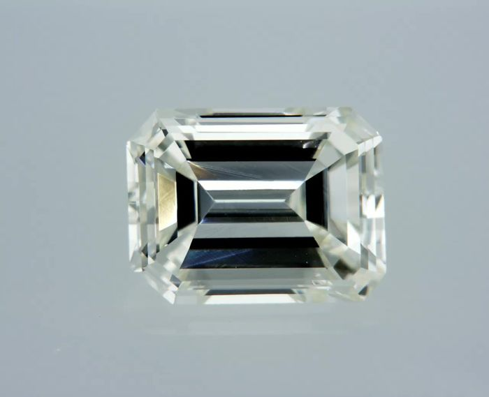 1 pcs Diamant - 0.86 ct - Émeraude - G - VVS1