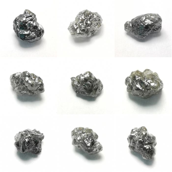 Congo Diamond Krystaller - 2,34 ct - 3.5×3×2.5 mm - 0.47 g - (9)